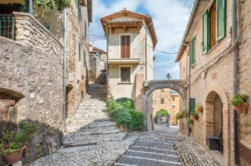 Casperia, medieval rural village in Rieti Province, Lazio (Italy